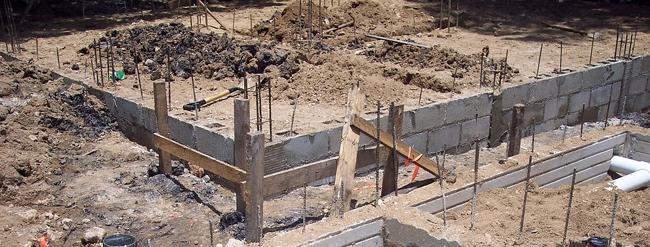 fondations d'une maison