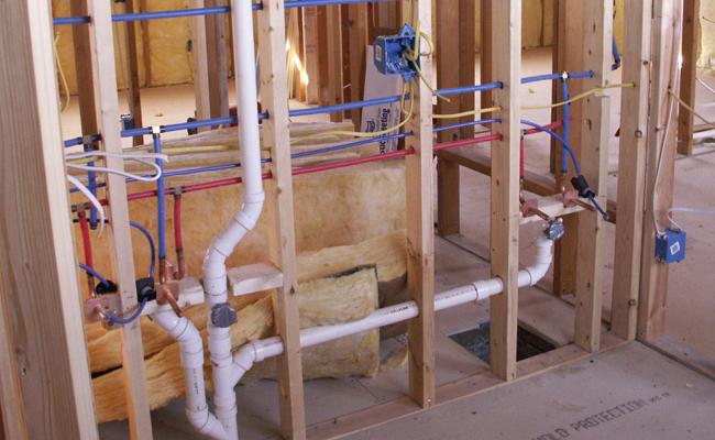plomberie lors de la construction